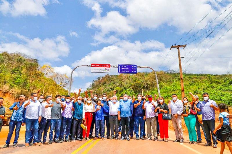 Governo e Prefeitura de Arame fazem vistoria na MA-006 (Foto: Luiz Paula)
